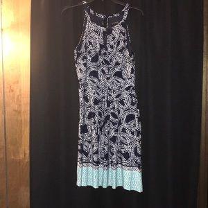 Women's 2 Shades of Blue Spring Dress